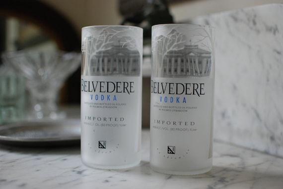Set of 2 Repurposed Polish Vodka Tall Tumbler Glasses