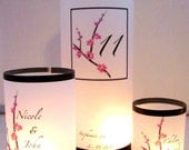 Reserved for Amy -  5 Pink Cherry Blossom Luminary Sampler Sets