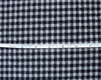 new FLEECE Black Ivory sm Check 1 yd x 62 inches