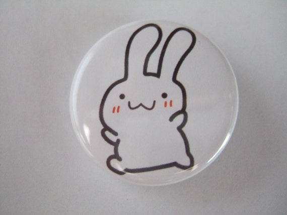 1.25 inch Bunny Button/Magnet - LAST ONE LEFT