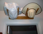Hat Rack 2 Hats Horizontal  Fits above Doors  Wall Mount Quality Hand Made Craftsmanship
