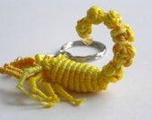Stinging Scorpion Macrame Keychain