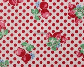 Fruits and dots - Old new fabric collection - Red by Lecien - Printed in Japan