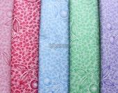 5 pcs of  fabrics - cherry on cherry by Atsuko Matsuyama - Printed in Japan