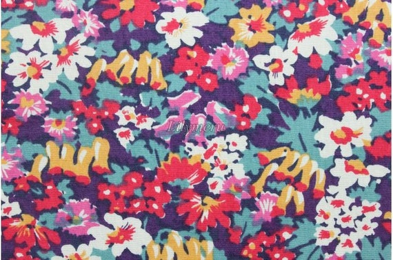 Liberty tana lawn printed in Japan - Bluebell - Colorful