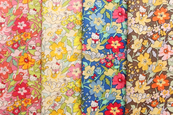 Small pieces of Liberty tana lawn printed in Japan - Hello Kitty - Kirstie
