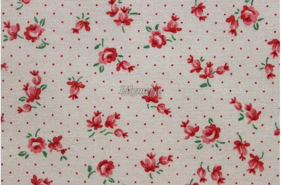Pure rose - Old new fabric collection - Ivory red by Lecien