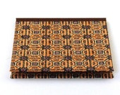 Nauli CD-Case in brown orange 50s Mid Century pattern Africa
