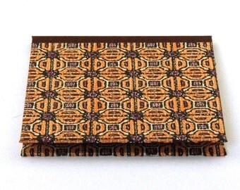 Nauli CD-Case in brown orange 50s Mid Century pattern Africa
