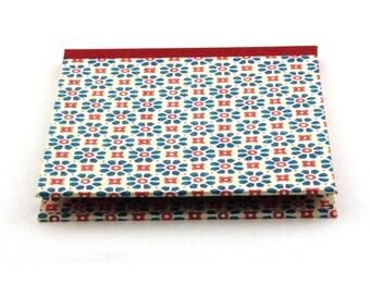 Nauli CD-Cover blue red flower, handmade DVD case