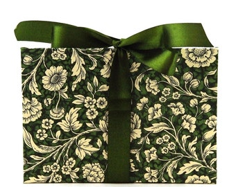 Zigzag- Photo- Album green Renaissance Flower Accordion Book