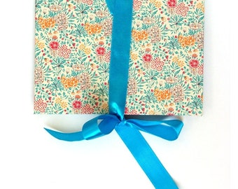 Accordion Book Summerflower teal turquoise Brag Book