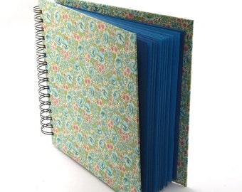 floral Scrapbook English rose blue mint green photo album book