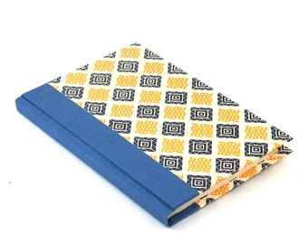 Address Book yellow blue checked