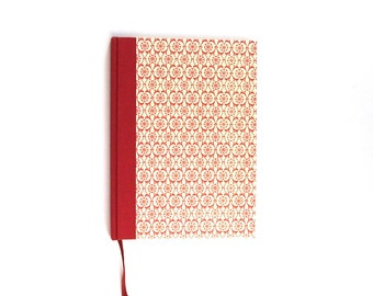 large Weekly Planner 2018 red tile pattern