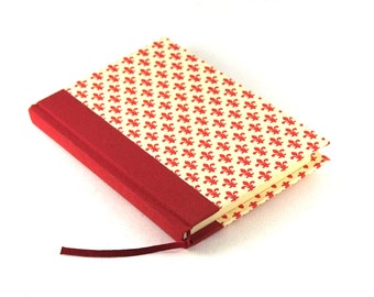A6 Notebook Fleur des Lys red white