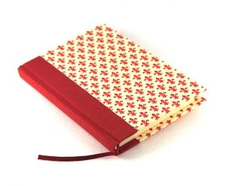 A6 Notebook Fleur des Lys red white