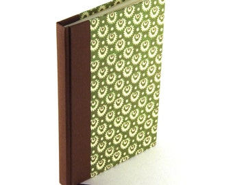 Notebook mossy green, A6 blank book, hardbound journal