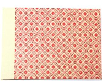 red créme Photo Album Java  Lotus Flower DIN A4 expandable guestbook