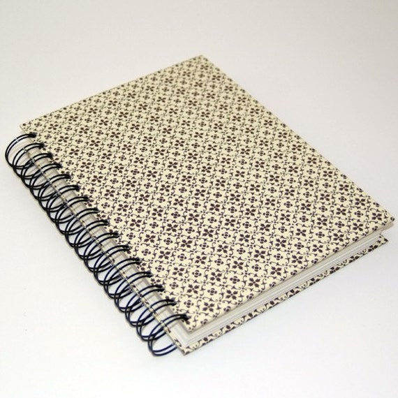 Sketch Book brown Starflowers graphic pattern