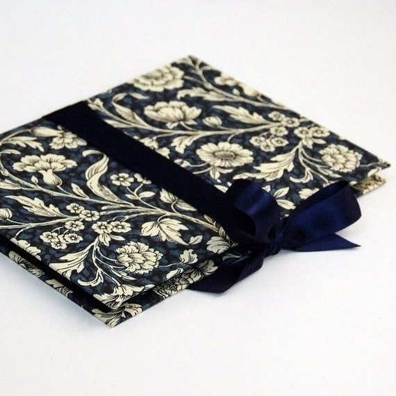 Zigzag Photo Album blue Renaissance flower Accordion Book