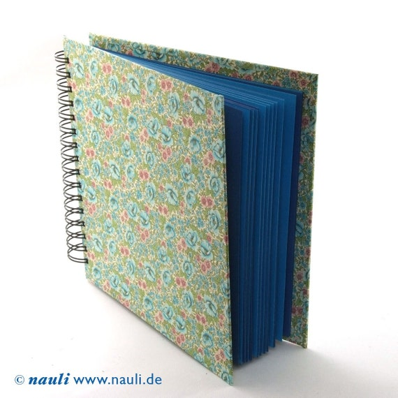 floral Scrapbook English rose blue mint green photo album book