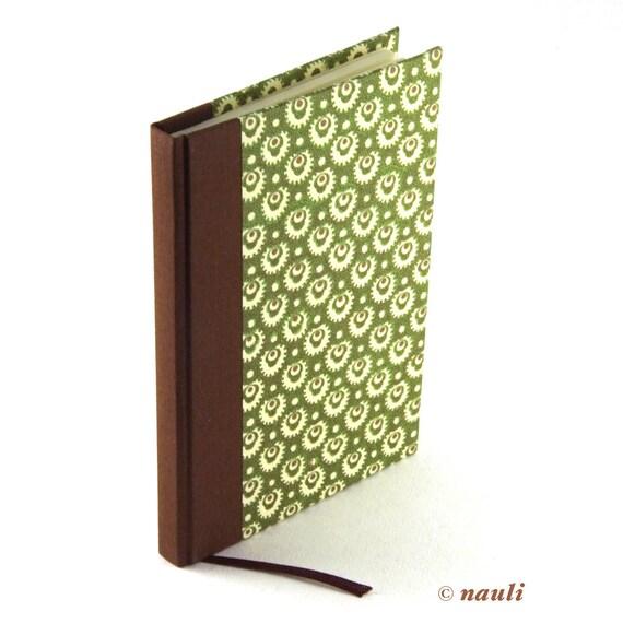 Notebook mossy green, A6 blank book, hardbound journal