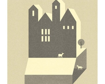 Small Houses Print - Different Sizes