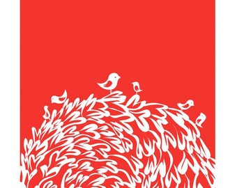 Red Birds Print - Different sizes
