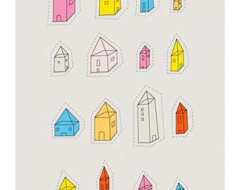 Transparent Houses Print - Different Sizes