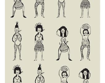 Women Print - Different Sizes