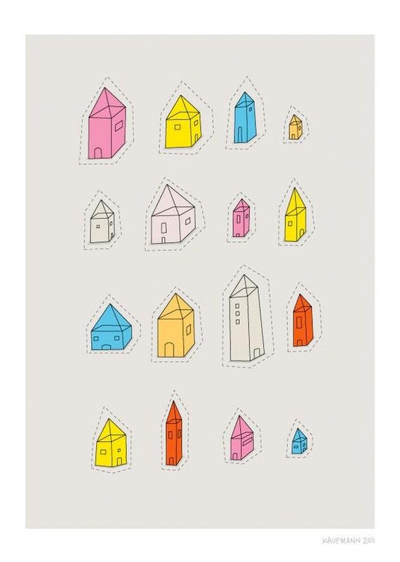 Transparent Houses Print - Different Sizes