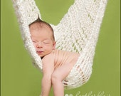 Big Baby, Twin Photo Prop Hammock, crochet baby hammock, chunky white hammock, large hammock, baby shower gift, hanging photo prop