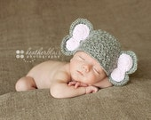 Baby boy hat, baby girl hat, crochet elephant beanie, elephant, photo prop, baby shower gift, coming home outfit, elephant nursery
