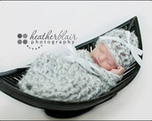 CLEARANCE 15% OFF Newborn Silver Bells Hat and Cocoon Set 2 pcs.