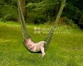 Newborn Hammock Photo Prop, crochet hammock, hanging photo prop, crochet newborn prop, baby shower gift, baby hammock, hanging prop