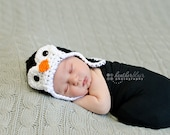 Baby boy hat, baby girl hat, crochet penguin hat, penguin, photo prop, baby shower gift, coming home outfit, first christmas, halloween