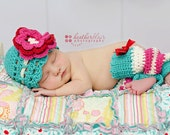 Baby girl hat, crochet shell hat, photo prop, baby shower gift, coming home outfit, crochet newborn hat, leg warmers, headband