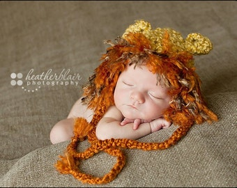 Baby boy hat, crochet lion hat, lion, photo prop, baby shower gift, coming home outfit, crochet newborn hat, baby lion prop, zoo animal