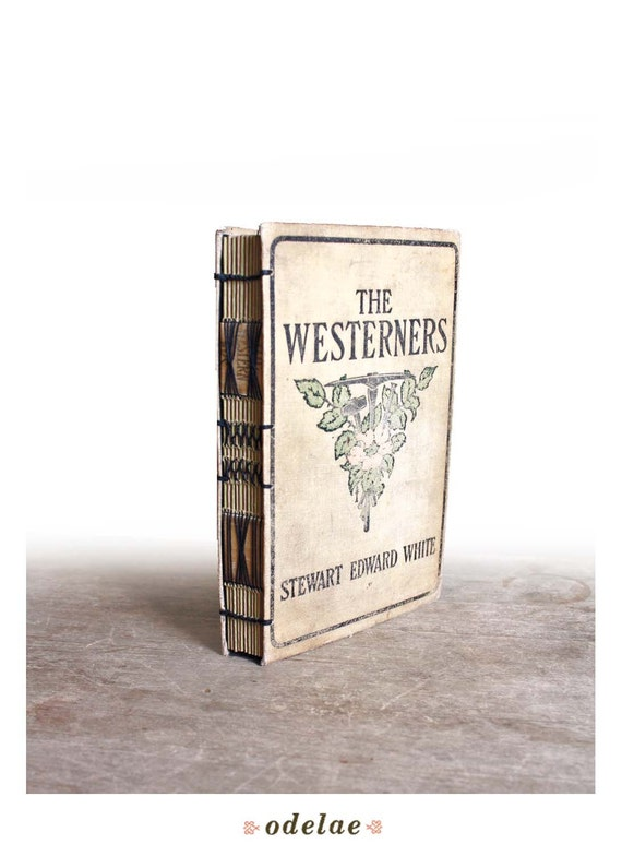 The Westerners- Handstitched Journal from Vintage Book