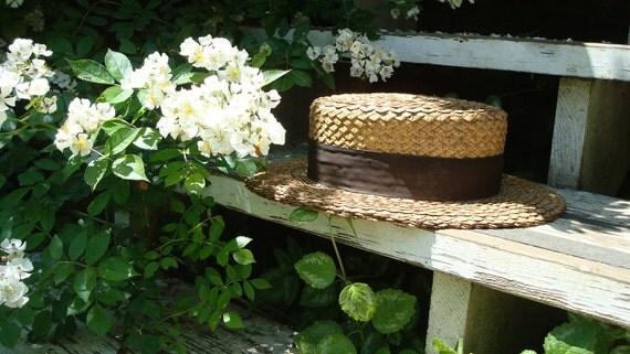 antique straw boater, Straw hat