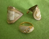 Vintage Earrings and Ring SIZE 7