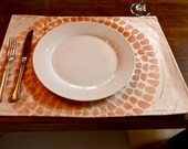 Set of 4 Giant Chrysathemum Place Mats Black Friday Thru Cyber Monday Sale Free Shipping