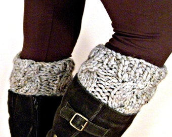 Boot Cuffs Boot Toppers / THE WESTCOTT Boot Cuffs / Grey Marble