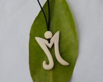 Letter m,letter m pendant,letter pendant,initial pendant,m,alphabet pendant