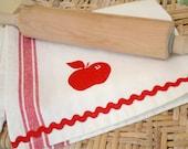 Vintage Apple. Tea Towel.