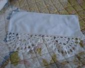 Two Antique Crochet Lace Shelf Trim Doilies Enchanting Design Thick Lace Beautiful Shabby Cottage Victorian Design