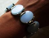 Pale Blue Vintage Lucite Link Bracelet by Leru