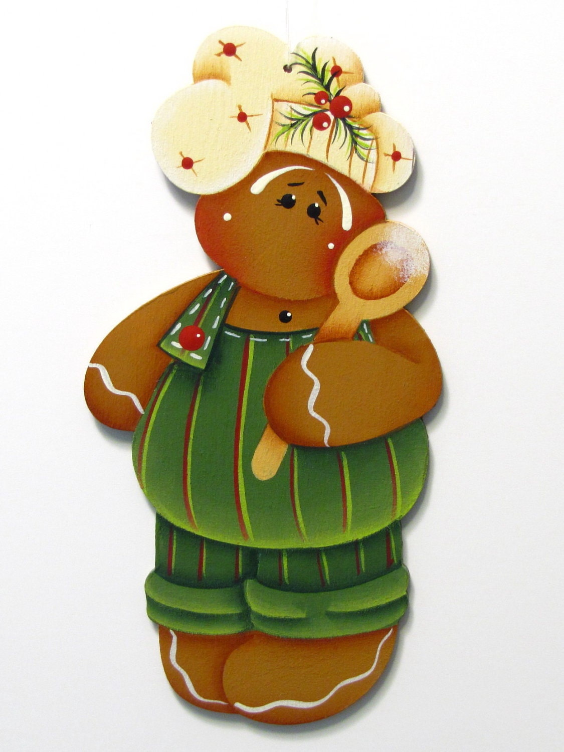 Gingerbread Boy Chef Ornament Christmas by ToleTreasures ...