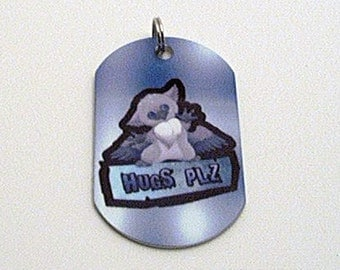 Hugs Plz Baby Gryphon Dogtag Necklace OR Keychain